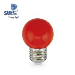 Lampe Sphérique Décorative 1W E27 Rouge