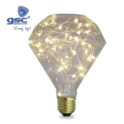 Ampoule Starlight Deco. Diamond LED 2W E27 3000K