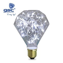 Ampoule Starlight Deco. Diamond LED 2W E27 6000K