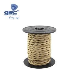 Cable Textile 10M Tressé Beige (2x0.75mm)