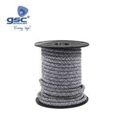 Cable Textile 10M Noir/Gris (2x0.75mm)