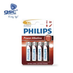 Piles Alcaline PHILIPS LR6 (AA) Blister 4 Unités