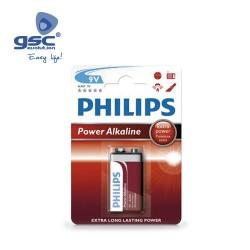 Piles Alcaline PHILIPS 9V Blister 1 Unité