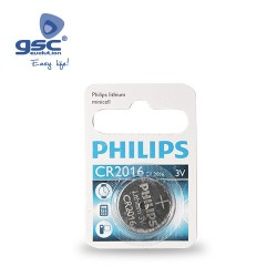 Piles Lithium PHILIPS CR2016 3V