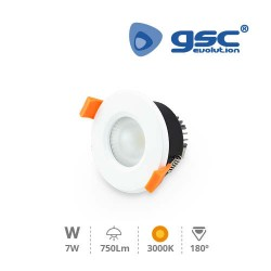 Spot Encastrable Rond LED 6W 3000K IP44 - Blanc