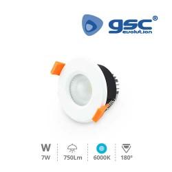 Spot Encastrable Rond LED 6W 6400K IP44 - Blanc