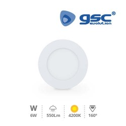 Downlight Encastrable LED Rond 6W - Blanc 4200K