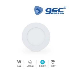 Downlight Encastrable LED Rond 6W - Blanc 6000K