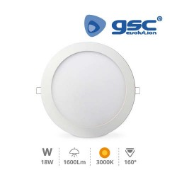 Downlight Encastrable Rond 18W 3000K Blanc