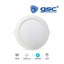 Downlight Encastrable Rond 18W 6000K Blanc