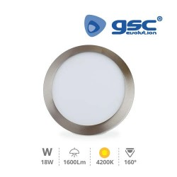 Downlight Encastrable LED Rond 18W - Níquel Satin 4200K