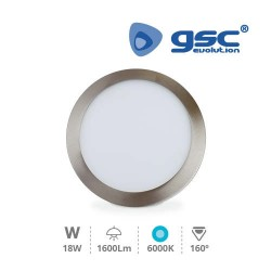 Downlight Encastrable LED Rond 18W - Níquel Satin 6000K
