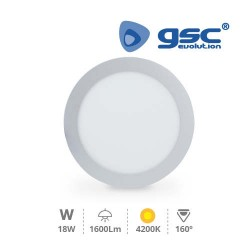 Downlight Encastrable LED Rond 18W - Gris 4200K