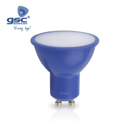 Ampoule Dichroïque 4W GU10 Bleu 230V