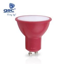 Ampoule Dichroïque 4W GU10 Rouge 230V