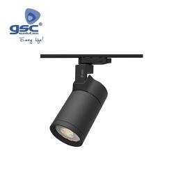 Projecteur Sur Rail LED Triphasé Noir 30W 4000K