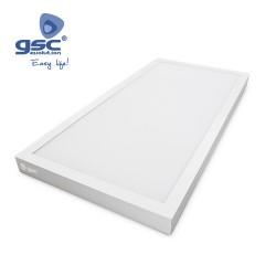 Plafonnier Saillie LED 30x90cm 36W 4200K Blanc