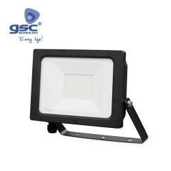 Projecteur LED 50W 3000K IP65 Noir