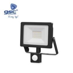 Projecteur LED Avec Capteur 20W 6000K IP65 Noir