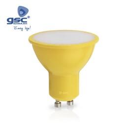 Ampoule Dichroïque 4W GU10 Jaune 230V
