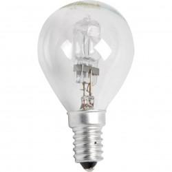 Ampoule Eco Halogène  Sphérique Claire E14 28W(40W)