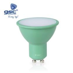 Ampoule Dichroïque 4W GU10 Vert 230V
