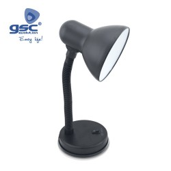 Lampe Flexible De Table Bell E27 40W- Noir