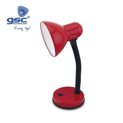 Lampe Flexible De Table Bell E27 40W- Rouge