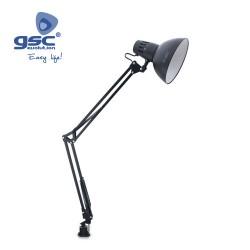 Lampe Flexible De Table Clip E27 40W- Noir