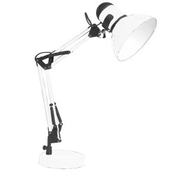 Lampe Flexible De Table Tradition E27 40W- Blanc